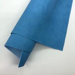 Кожзам (экокожа) на полиуретановой основе с тиснением под питона, цвет ярко-голубой, арт. SC400054
