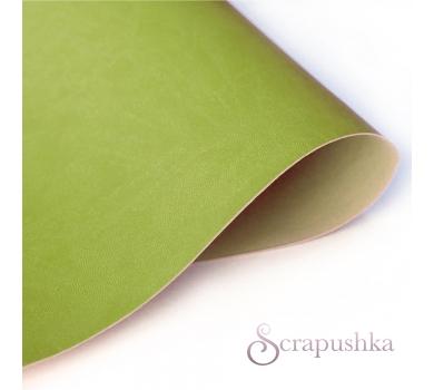 Кожзам (экокожа) на полиуретановой основе светло-зеленый, арт. 180504