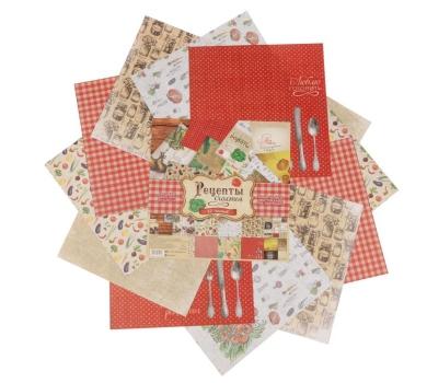 Набор бумаги для скрапбукинга  Рецепты счастья, 30.5х30.5 см,  2001011