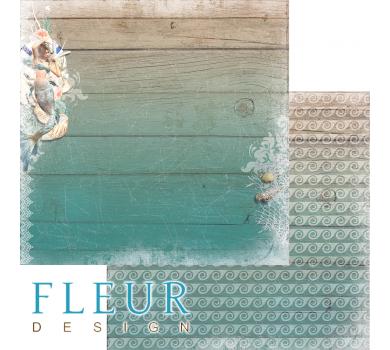 Лист бумаги для скрапбукинга Подводное царство, коллекция Лагуна, арт. FD1005408