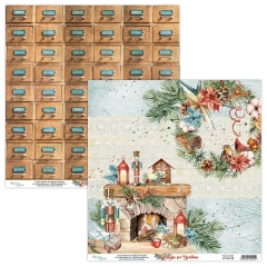 Бумага двусторонняя для скрапбукинга Home for Christmas by Mintaypapers, арт. MT-HFC-03
