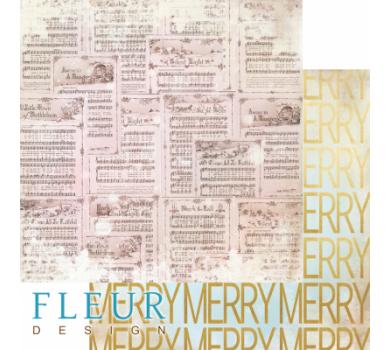 Лист двусторонней бумаги для скрапбукинга Веселые ноты, коллекция Волшебный лес, FD1005901