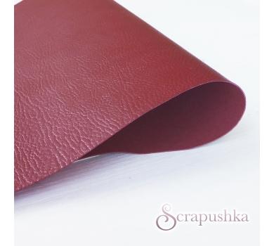 Кожзам (экокожа) с тиснением на полиуретановой основе красный, арт. SC411207