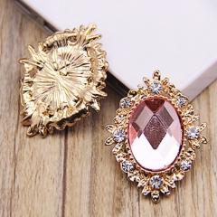 Камень в оправе, цвет розовый, арт. 173204