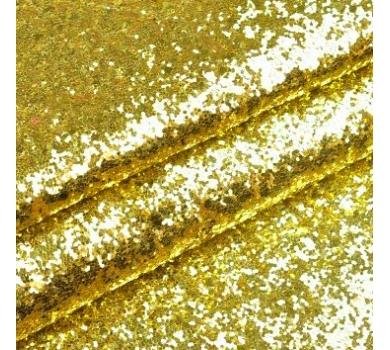 Ткань с крупным глиттером, цвет желтое золото, SC410520