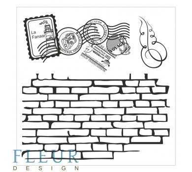 Набор штампов Стена с марками Фоновые, FD4010011