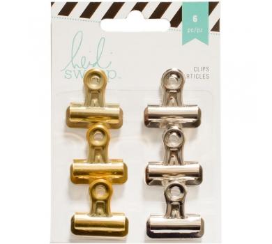 Набор металлических зажимов Heidi Swapp Bulldog Clips, 312223
