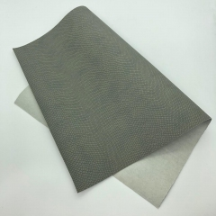Кожзам (экокожа) на полиуретановой основе с тиснением под питона, цвет серый, арт. SC400052