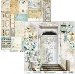 Бумага двусторонняя для скрапбукинга Old Manor by Mintaypapers, арт. MT-OLD-02