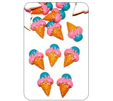 Декоративный элемент рожок Buble gum, CAKE11-02-61