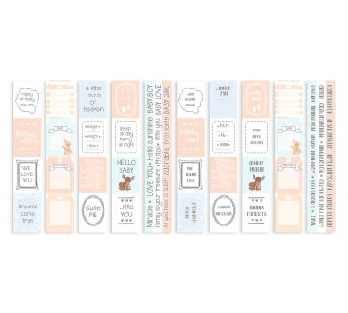 Набор полос с картинками для декорирования Baby&Mama, 5х30.5 см, 200 гр/м2, 01052