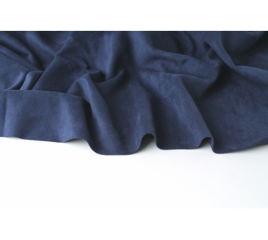 Искусственная замша двусторонняя, цвет темно-синий, арт. 411604