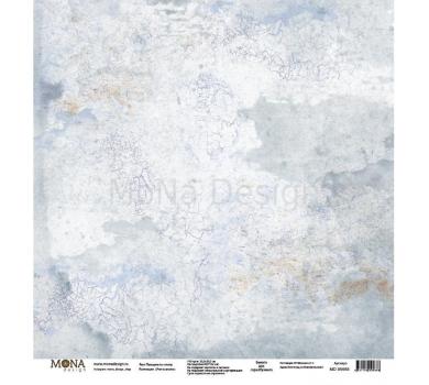 Лист бумаги для скрапбукинга Пальцем по стеклу, коллекция Учат в школе, 95668