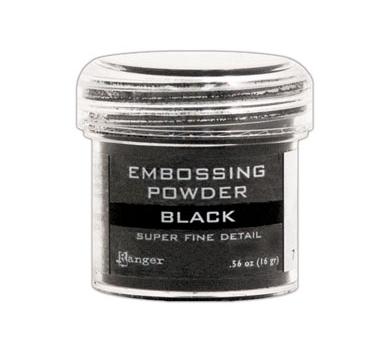 Пудра для эмбоссинга Super Fine Detail, черный, EPJ37392