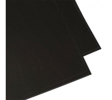 Дизайнерская бумага гладкая, цвет черный, 30.5х30.5 см, 250 гр/м, арт. 271442