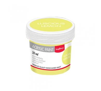 Акриловая краска для декора, цвет Сочный Лимон, 20 мл, арт. SCB313132