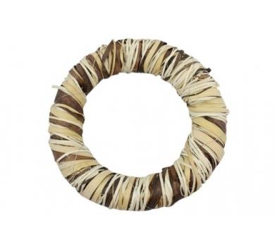 Декоративный венок Очарование, ротанг, диаметр 25см, SCB370225