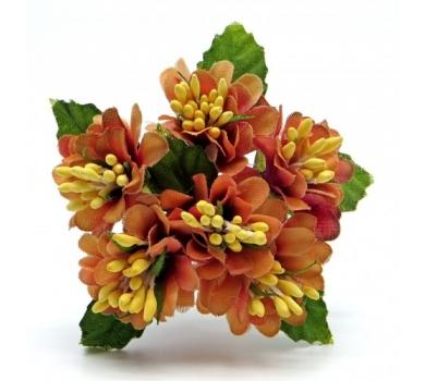 Декоративный букетик, цвет оранжевый, DKB150D