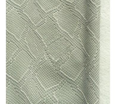 Кожзам с тиснением под рептилию, серый, арт. KA400810