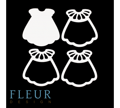 Заготовка для шейкера Платьице с рюшами, от FLEUR design, FD1531044