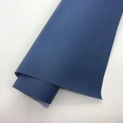 Кожзам (экокожа) на полиуретановой основе с тиснением под питона, цвет синий, арт. SC410051