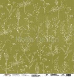 Лист бумаги для скрапбукинга Разноцветье, коллекция Межсезонье, 72874