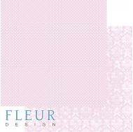 Лист бумаги для скрапбукинга Нежный Розовый, коллекция Шебби Шик Базовая 2.0,FD1007202