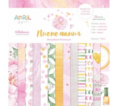 Набор бумаги Пиономания от April paper, арт. PEONY-005-01