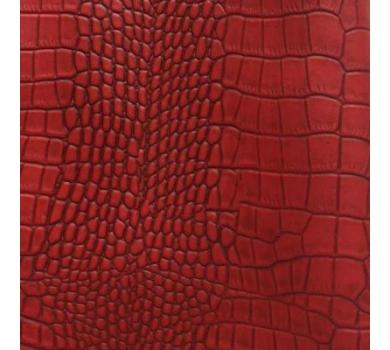 Кожзам с тиснением под рептилию, красный, арт. KA410816