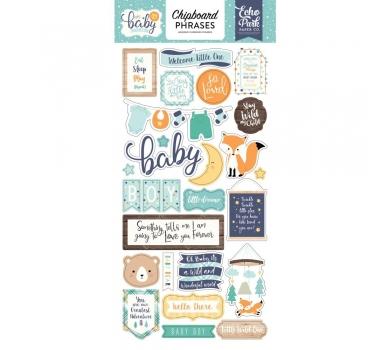 Набор чипборда на клеевой основе Hello Baby Boy Phrases, 172022