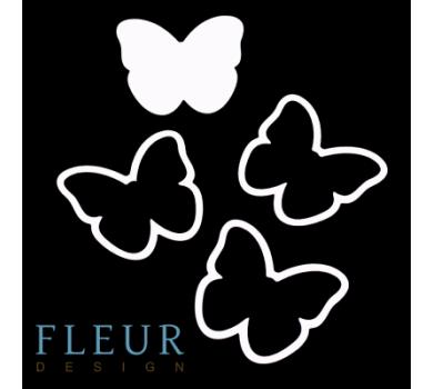 Заготовка для шейкера Бабочка от FLEUR design, FD1531024