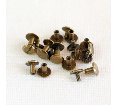 Хольнитен винтовой для установки кольцевого механизма, 1 шт., цвет бронза, арт. 154019