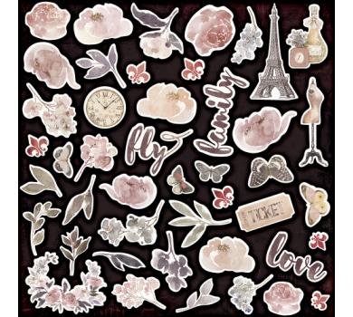 Набор высечек (вырубок) Charming (Очарование), 45 шт, 250 гр/м2, SM3300014