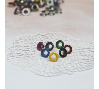 Люверс металлический, цвет Разноцветный, 5 мм, 1 шт., AL0405176