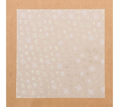 Калька декоративная с фольгированием Зимнее утро, арт. 3470673