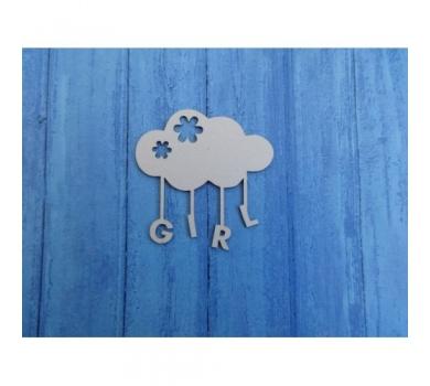 Чипборд Облако Girl, 64х65 мм, 0250