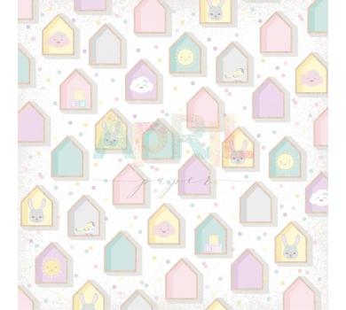 Лист односторонней бумаги для скрапбукинга Любимая игрушка, коллекция Детские мечты, арт. м-012-01-11