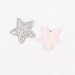 Патч (нашивка) с глиттером Серебряная звезда, 1 шт., арт. 194809