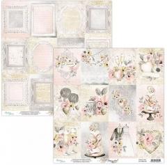 Бумага двусторонняя для скрапбукинга Marry me by Mintaypapers, арт. MT-MRM-06