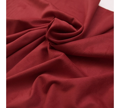 Искусственная замша двусторонняя, цвет красный, арт. 411609