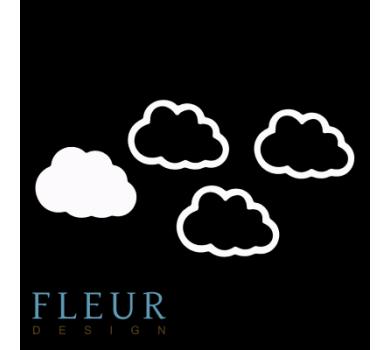 Заготовка для шейкера Облако от FLEUR design, FD1531009