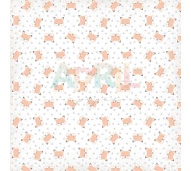 Бумага для скрапбукинга односторонняя Лисенок, коллекция Детские мечты, арт. boy-012-01-1