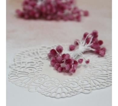 Тычинки сахарные двусторонние, цвет Розовый, 55х4 мм, 20 шт, AL30041712