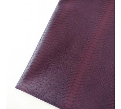 Кожзам с тиснением под рептилию, фиолетовый, арт. KA410803