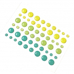Эмалевые дотсы с блестками Цитрус, KA110132