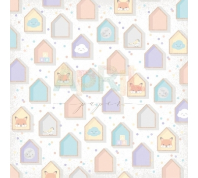 Бумага для скрапбукинга односторонняя Любимая игрушка, коллекция Детские мечты, арт. boy-012-01-3