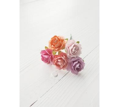 Розы кудрявые, микс теплых оттенков, KA481114