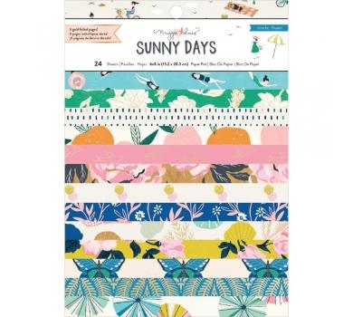 Набор односторонней бумаги с фольгированием Maggie Holmes Sunny Days, 350818