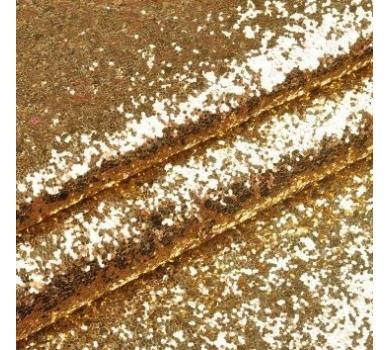Ткань с крупным глиттером, цвет золото, SC400518