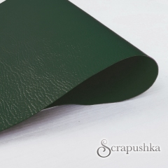 Кожзам (экокожа) с тиснением на полиуретановой основе зеленый, арт. SC400043
